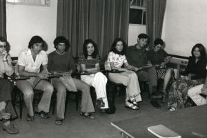 סיום קורס קריינים 1974 עם עודד בן עמי, ענת שרן, צבי סלטון ודן עופרי